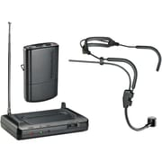 Audio-Technica ATHCR7100HT3 Headworn VHF Wireless Microphone System, Black