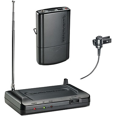 Audio-Technica ATHCR7100LT3 Lavalier VHF Wireless Microphone System, Black
