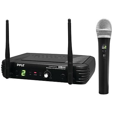 Pyleaudio Premier PDWM1902 Wireless Professional UHF Handheld Microphone, Black