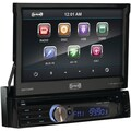SSL SD730M 7in. Single Din Motorized Flip-Out Touchscreen Multimedia Receiver