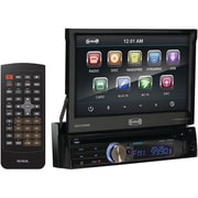 SSL SD732M 7 Single Din Motorized Flip-Out Touchscreen Multimedia Receiver With Bluetooth