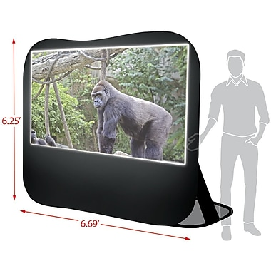 Sima® 84in. Pop-Up Projection Screen