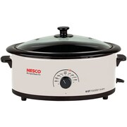 Nesco® 6 qt Roaster With Nescote® Non-Stick Cookwell, Ivory