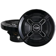 "Bazooka® MAC6510 6 1/2"" 100 W Marine 2-Way Coaxial Speaker With Poly Woofer/Tweeter, Black"