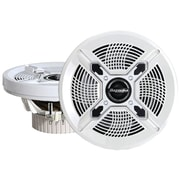"Bazooka® MAC6510 6 1/2"" 100 W Marine 2-Way Coaxial Speaker With Poly Woofer/Tweeter, White"