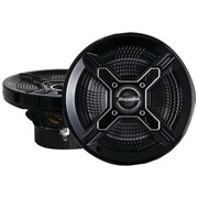 Bazooka® MAC8100 8 150 W Marine 2-Way Coaxial Speaker With Poly Woofer/Tweeter, Black