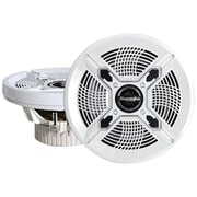 "Bazooka® MAC8100 8"" 150 W Marine 2-Way Coaxial Speaker With Poly Woofer/Tweeter, White"