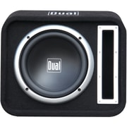 "Dual® SBX100 10"" 500 W Vented Subwoofer Bandpass Box, Black"