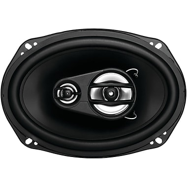 SSL Ex Series 6in. x 9in. 300 W Full Range 3 Way Poly Injection Cone Speaker, Black