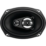 "SSL Ex Series 6"" x 9"" 300 W Full Range 3 Way Poly Injection Cone Speaker, Black"