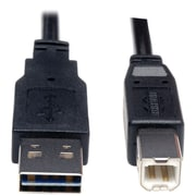 Tripp Lite 6' Universal Reversible USB 2.0 A to USB 2.0 B Device Cable, Black