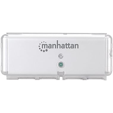 Manhattan® 4 Port Hi-Speed Pocket USB Hub, Silver