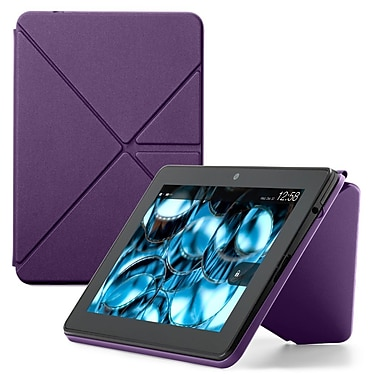 Amazon® Origami Basic Standing Polyurethane Case For Kindle Fire HDX 7in. Web Tablet, Purple