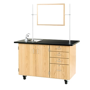 DWI Oak Wood Demonstration Center with Sink and Fixtures 36