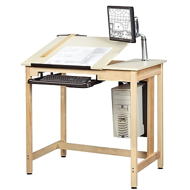 Diversified Woodcrafts Shain 42''Lx30''D Rectangular Drafting Table, Maple (CDTC70)