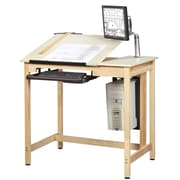 """SHAIN Drawing Table 39.75""""H x 42""""W x 30""""D Solid Maple"""