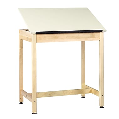 Diversified Woodcrafts Shain 36''Lx24''D Rectangular Drafting Table, Maple (DT9A37)