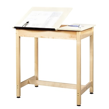 Diversified Woodcrafts Shain 36''Lx24''D Rectangular Drafting Table, Wood/Veneer (DT9SA37)