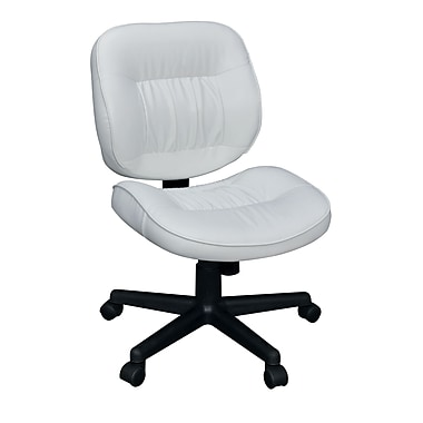 Regency Seating 2510WH Cirrus Vinyl Mid-Back Armless Swivel Task Chair, White