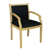 Regency Seating Regent Fabric/Wood Guest Chair Natural/Black