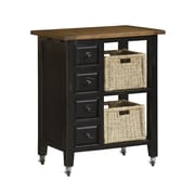 Hillsdale Tuscan Retreat Kitchen Island; Black