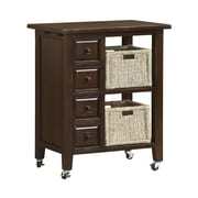 Hillsdale Tuscan Retreat Kitchen Island; Rustic Mahogany