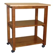 International Concepts Dining Essentials Kitchen Cart with Butcher Block Top; Cinnamon