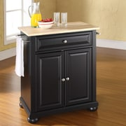 Crosley Alexandria Kitchen Island; Black