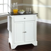 Crosley LaFayette Kitchen Island with Granite Top; White