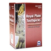 Royal Toner Cello-Wrapped Round Wood Toothpicks in Natural