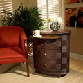 Butler Designer's Edge Rattan Oval 3 Drawer End Table