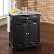 Crosley Newport Kitchen Island with Granite Top; Black