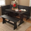TMS Nook 3 Piece Dining Set; Black