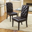 Home Loft Concept Carrigan Crown Top Dining Chair (Set of 2); Leather - Brown