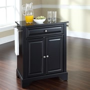 Crosley LaFayette Kitchen Island with Granite Top; Black