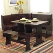 TMS Nook 3 Piece Dining Set; Espresso