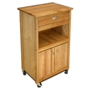 Catskill Craftsmen Cuisine Kitchen Cart w/ Butcher Block Top