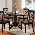 Home Styles 5 Piece Dining Set; Black
