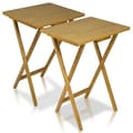 Furinno EASi Folding TV Tray Table Set; Beech