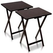 Furinno EASi Folding TV Tray Table Set (Set of 2); Espresso