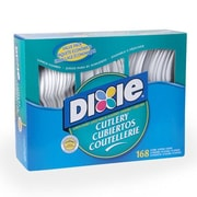Dixie (56 utensil packs per carton) Plastic Forks / Knifes / Teaspoons in White (Set of 6)