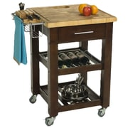 Chris & Chris Pro Chef Kitchen Cart; Espresso