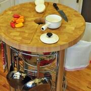 Chris & Chris Prep Table with Wood Top