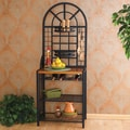 Wildon Home   Heights Bakers Rack in Black