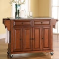 Crosley Kitchen Cart with Granite Top; Classic Cherry