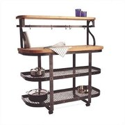Enclume Baker's Sideboard Kitchen Cart with Wood Top