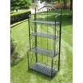 International Caravan Mandalay 4-Tier IndoorOutdoor Bakers Rack; Antique Black