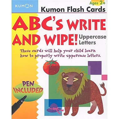ABCs Uppercase Write & Wipe Flash Cards (Kumon Flash Cards)