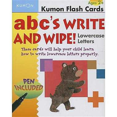 ABC's Write and Wipe Lowercase Letters (Kumon Flash Cards)