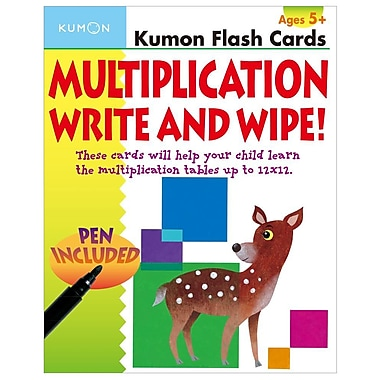 Multiplication Write and Wipe Flash Cards (Kumon Flash Cards)